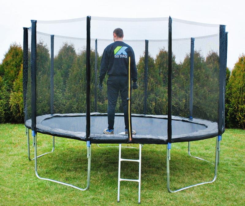 Inne rodzaje Trampolina ogrodowa 366cm - zewn. siatka - 5 nóg | maxy.pl SM63